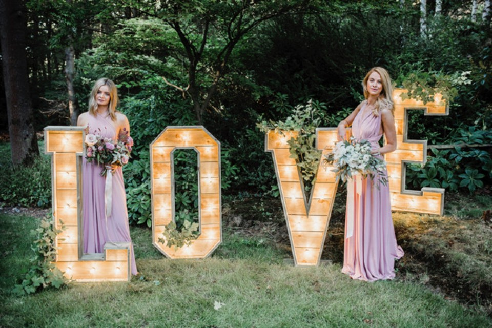 Wedding Decor Hire Yorkshire - Reclaimed 'LOVE' Letters