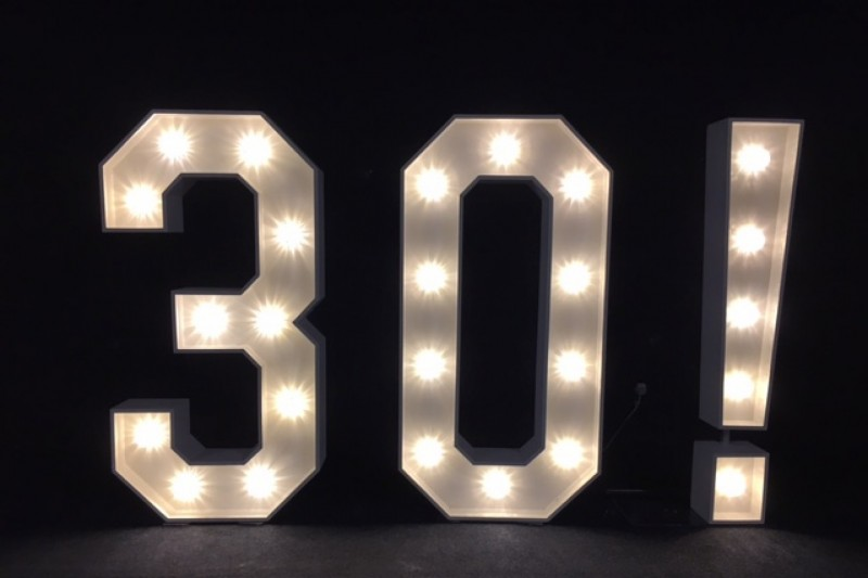 light up number hire bradford