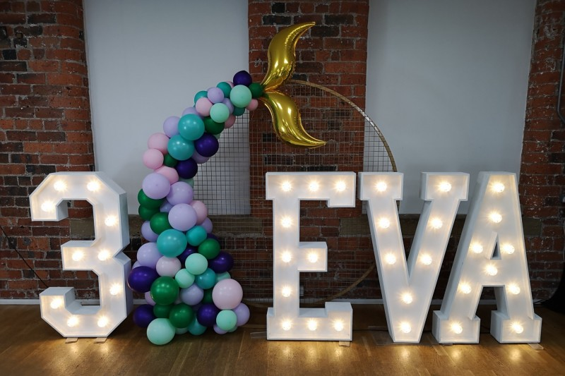 Light Up Numbers and Letters to Hire in Wakefield