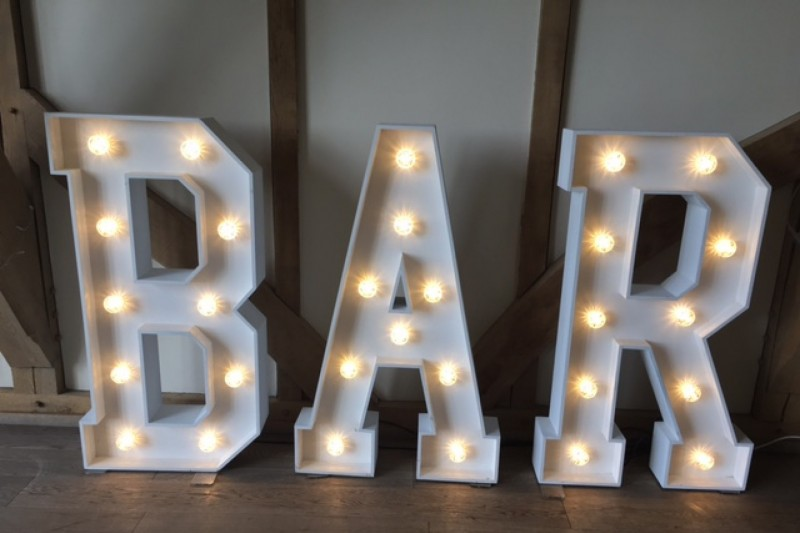 light up letters to hire in york