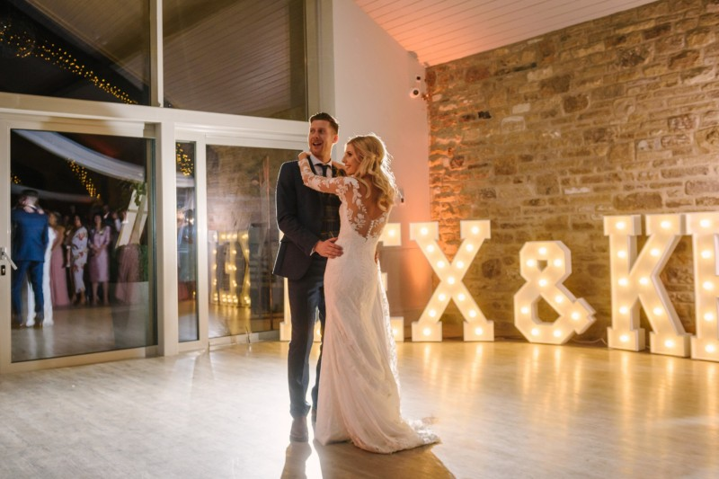light up letters yorkshire wedding barn
