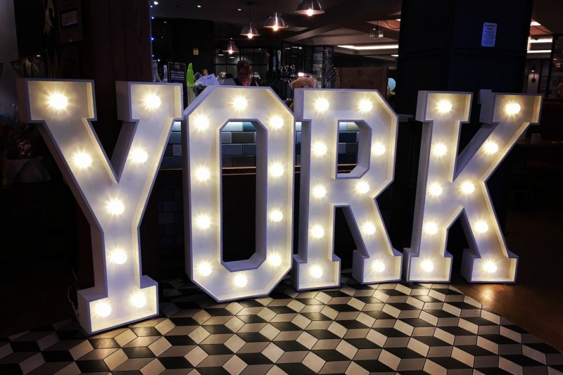 Light Up Letters to Hire in York Yorkshire
