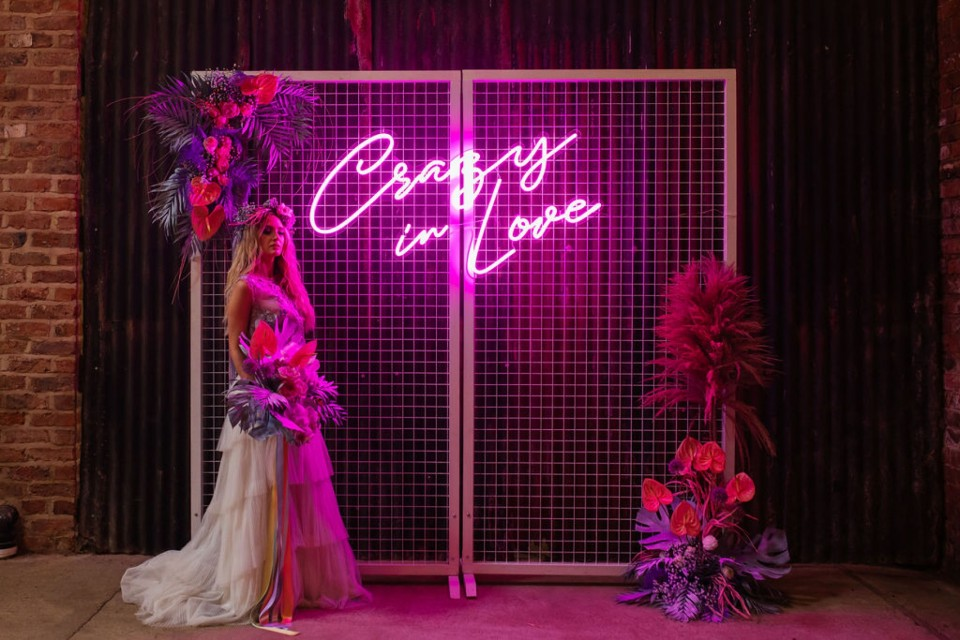 Newbury Wedding Decor, Styling - Prop Hire. - Pink Neon 'Crazy In Love'