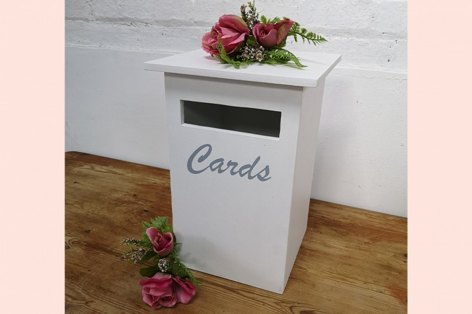 Live Wedding Band Hire - White Card Postbox
