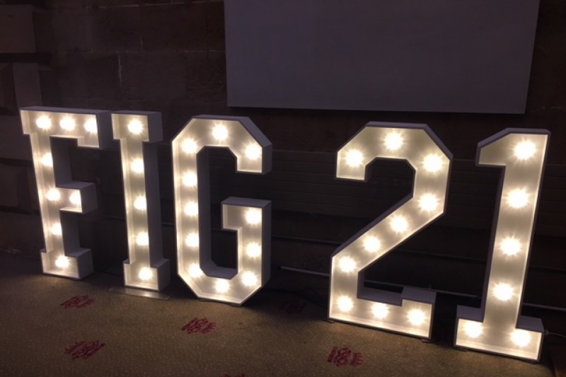 light up letters to hire bradford