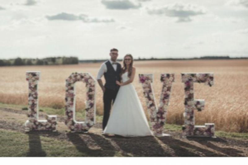 floral love letters barmbyfield barns york