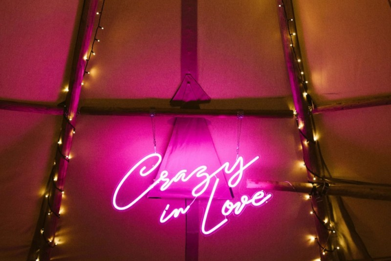 Pink Neon 'Crazy In Love' Sign to hire Leeds Yorkshire