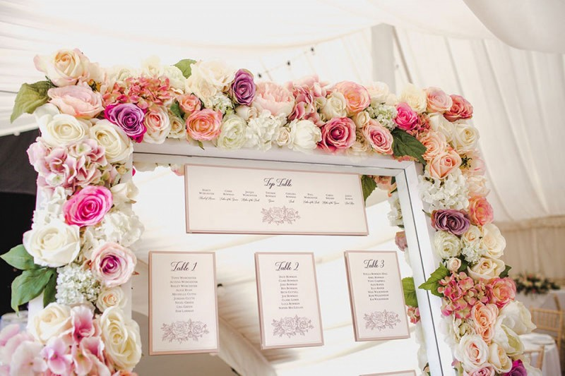 Deluxe Blush Floral Frame