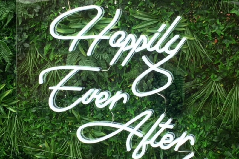 neone wedding sign hire yorkshire